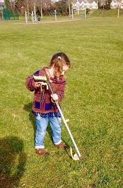 Child at estate clean up in the Gallops