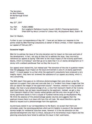 GRA Response to ABT Lisieux development