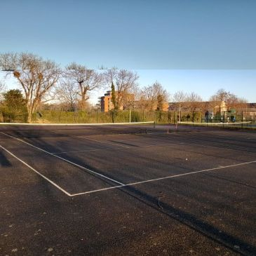 Tennis court in the Gallops, Dublin 18