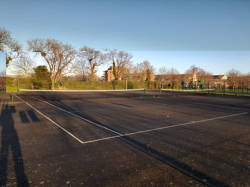 tennis courts in the Gallops estate